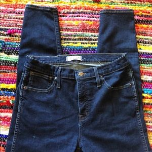 """Madewell 10"""" high rise skinny ankle jeans size 30"""